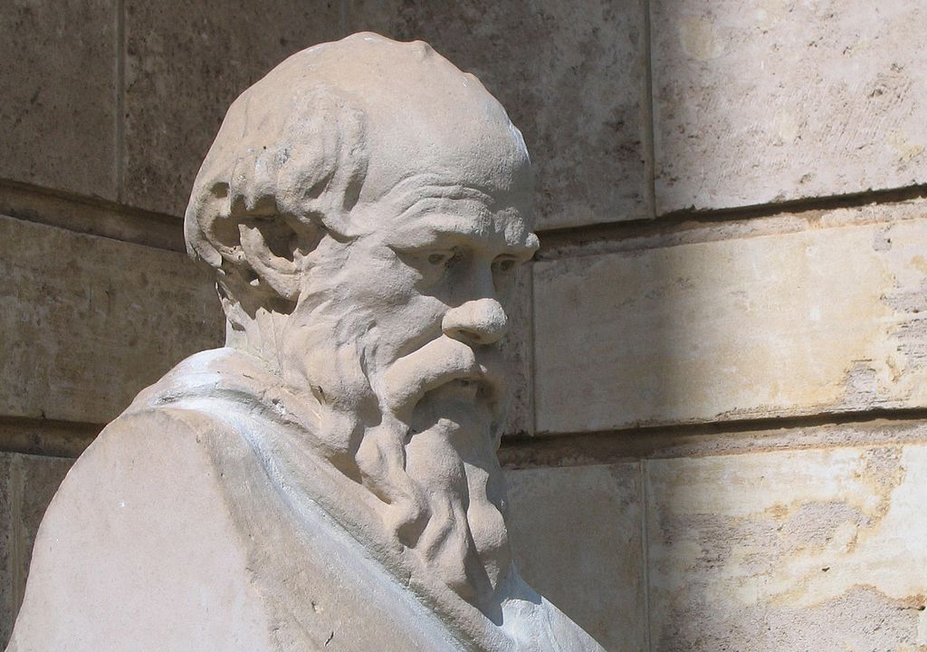 Bust of Socrates by Victor Wager at the University of Western Australia